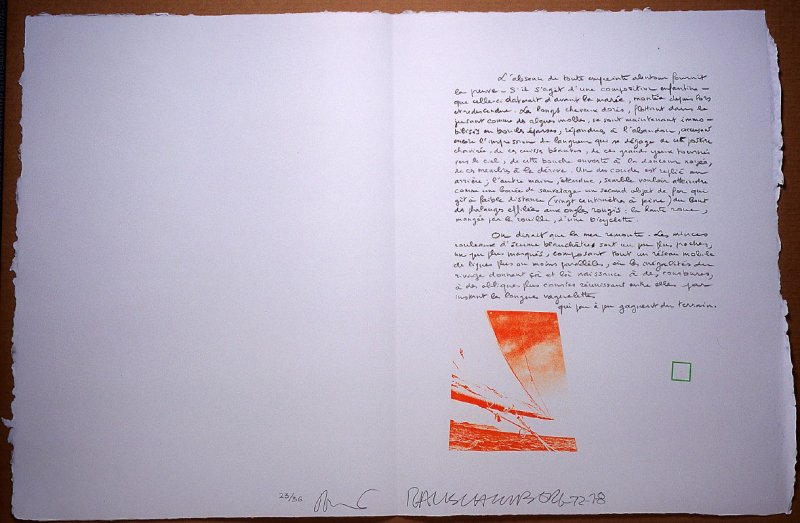 Untitled, pg. 22, in the book Traces suspectes en surface (Suspect Traces on the Surface) by Alain Robbe-Grillet (West Islip, NY: ULAE, 1978)