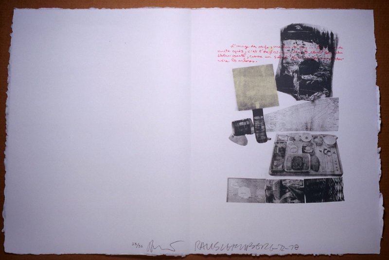 Untitled, pg. 14, in the book Traces suspectes en surface (Suspect Traces on the Surface) by Alain Robbe-Grillet (West Islip, NY: ULAE, 1978)