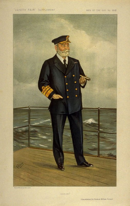 """Uncle Bill"" (Vice-Admiral Sir Frederic William Fisher) Men of the Day No. 1312, from Vanity Fair Supplement"