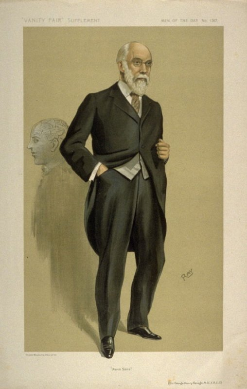 """""""Mens Sana"""" (Sir George Henry Savage, M.D., F.R.C.R.) Men of the Day No. 1317, from Vanity Fair Supplement"""