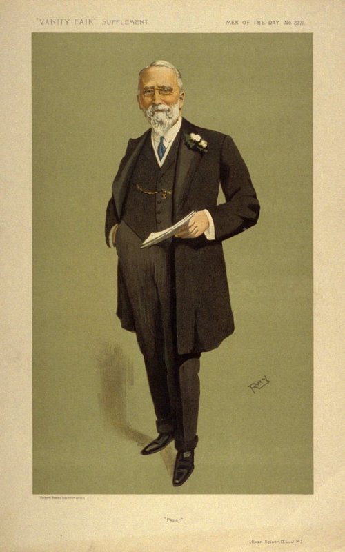 """""""Paper"""" (Evan Spicer, D.L., J.P.) Men of the Day No. 2271, from Vanity Fair Supplement"""