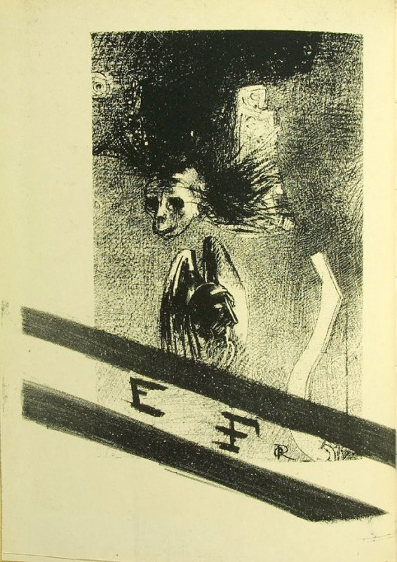 Untitled, frontispiece (canceled), in the book La Damnation de l'artiste (The Damnation of the Artist) by Iwan Gilkin (Brussels: Edmond Deman, 1890).