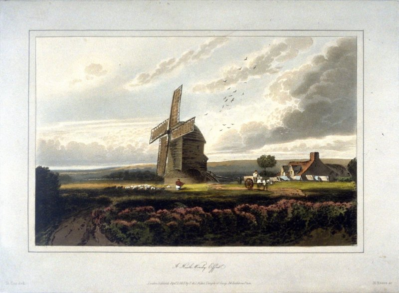 A Heath, Windy Effect, illustration to Cox's 'A Treatise on Landscape Painting & Effects in Watercolours' (London, 1814)