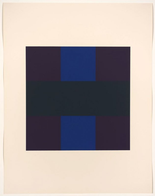 Untitled #6, from the portfolio 10 Screenprints by Ad Reinhardt