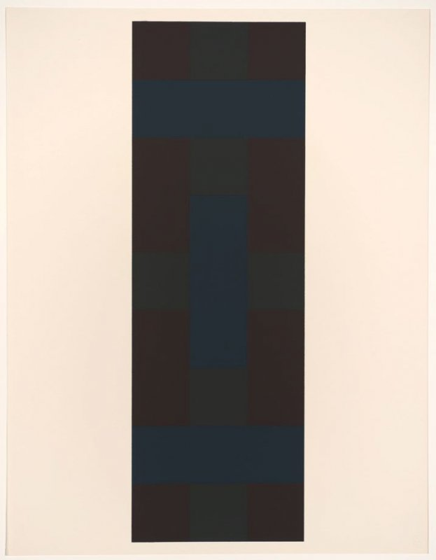 Untitled #7, from the portfolio 10 Screenprints by Ad Reinhardt