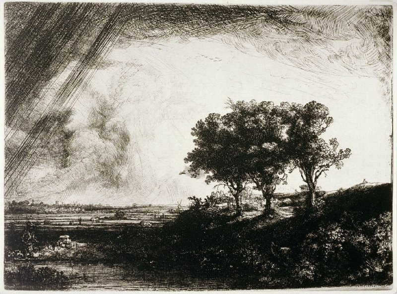 The Landscape with the Three Trees (photomechanical reproduction)