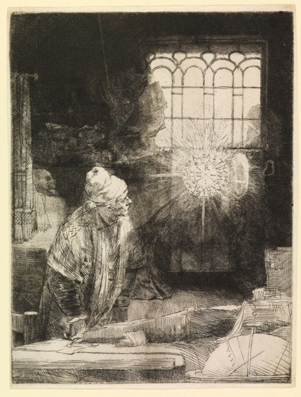 Faust in his Study