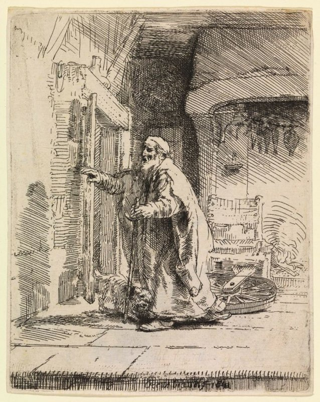The Blindness of Tobit (the larger plate)