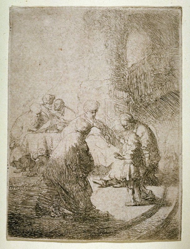 Christ Disputing with the Doctors (small plate)