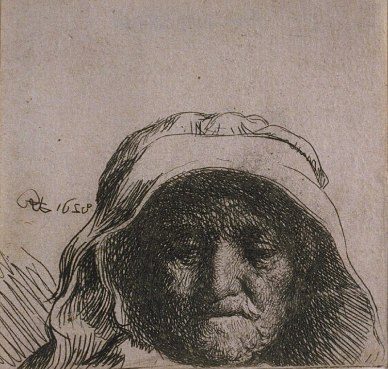 Head of an Old Woman with a Cap