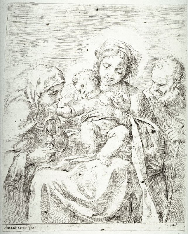 The Holy Family with St. Clare