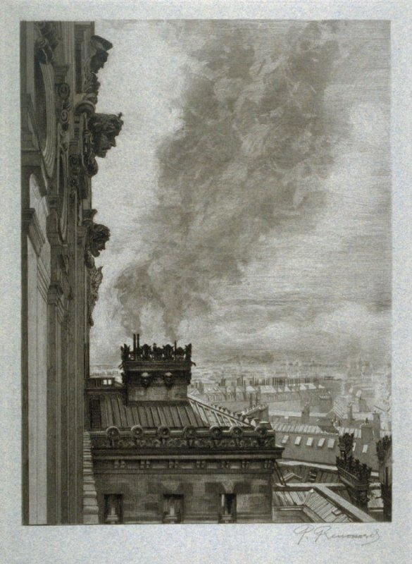 Toits de l'administration (The Rooftops of the Administration Building), plate 20 from Le Nouvel Opéra
