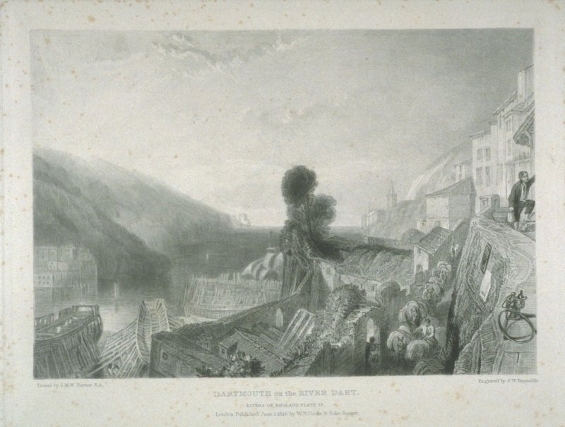 Plate 15: Dartmouth on the River Dart, from the series 'The Rivers of England'