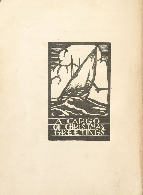 A Cargo of Christmas Greetings, Illustration 27 in the book Block Printing in the School by William Seltzer Rice