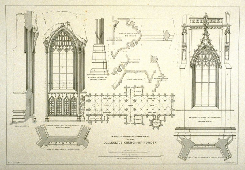 Howden: Details, sixth plate opposite page 81,and seventy-fourth plate in the book, The Monastic Ruins of Yorkshire (York: Robert Sunter, 1843-[1855])