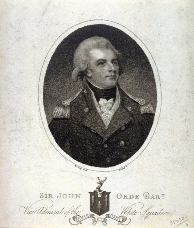 Sir John Orde, Vice Admiral of the White Squadron