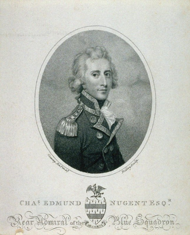 Charles Edmund Nugent, Esquire, Rear Admiral of the Blue Squadron