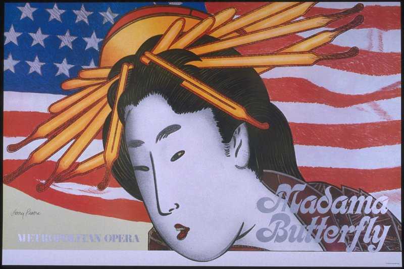 Madama Butterfly, fifth of a portfolio of eight Metropolitan Opera Fine Arts Posters