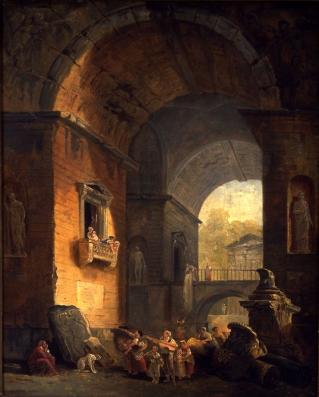 Musicians in an Archway