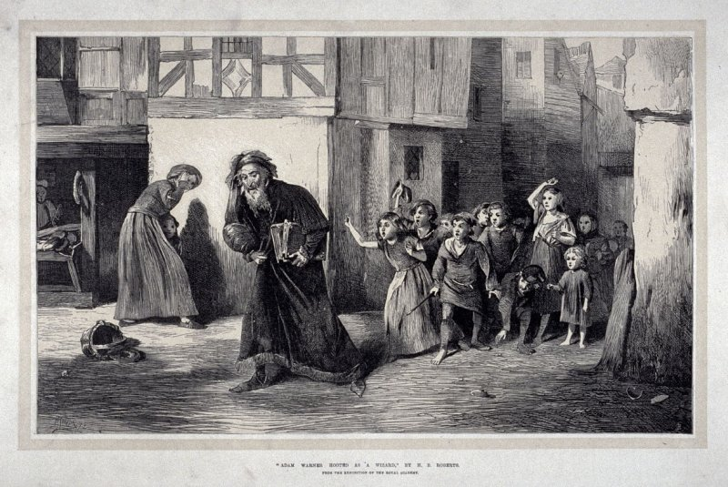 Adam Warner Hooted as a Wizard - The Illustrated London News, 13 July 1872