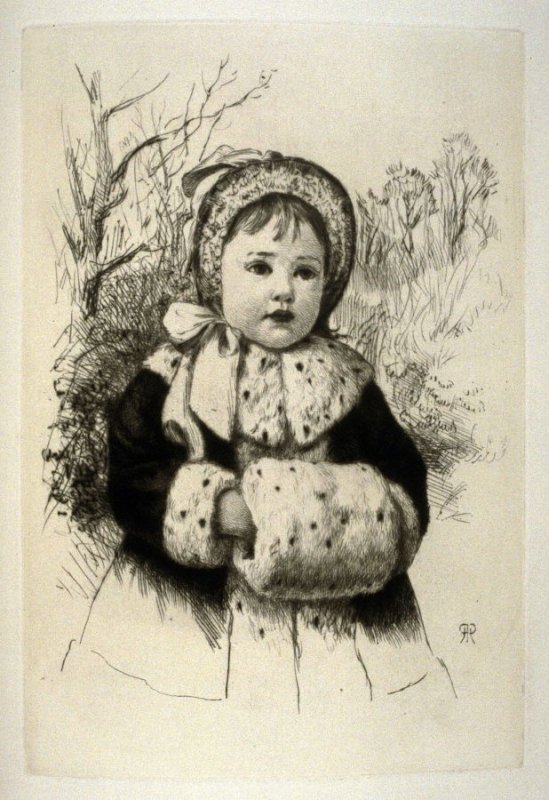 My first Muff, plate 11 in the book, The Etcher (London: Sampson Low…, 1880), vol. 2 [bound in same volume as vol. 1, 1879]