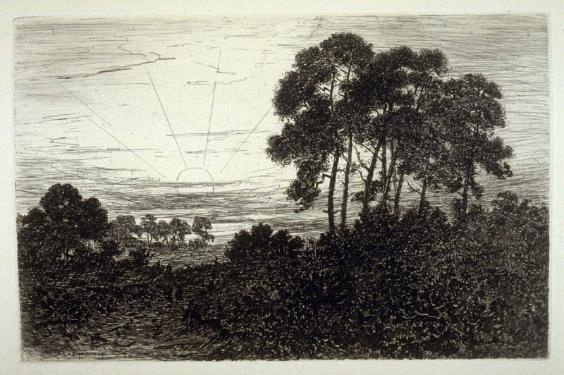 Sunset, plate 17 in the book, The Etcher (London: Williams and Norgate, 1879), vol. 1