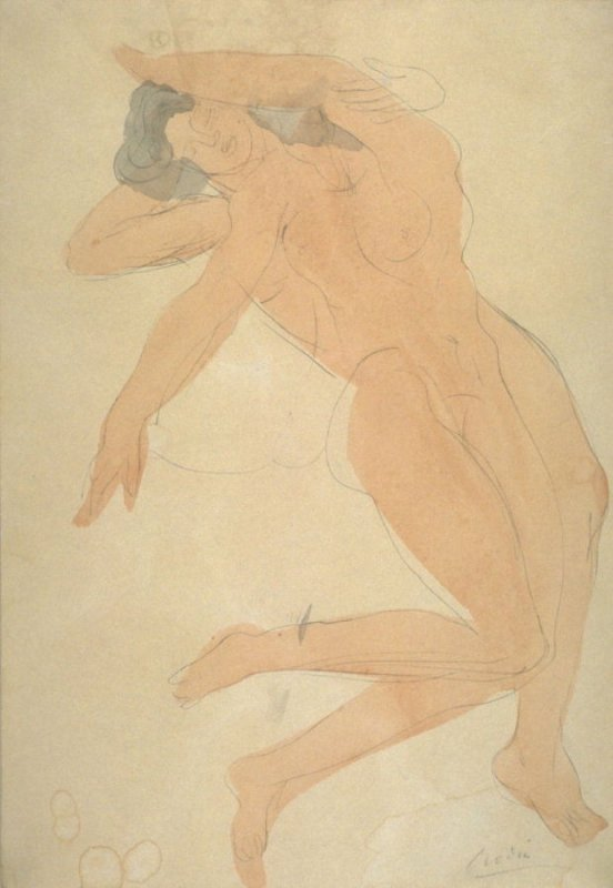 Two emale Nudes, Copy after Rodin