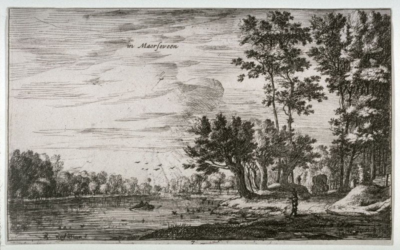 View near Maerseveen, pl. 7 from Views of Holland (II)