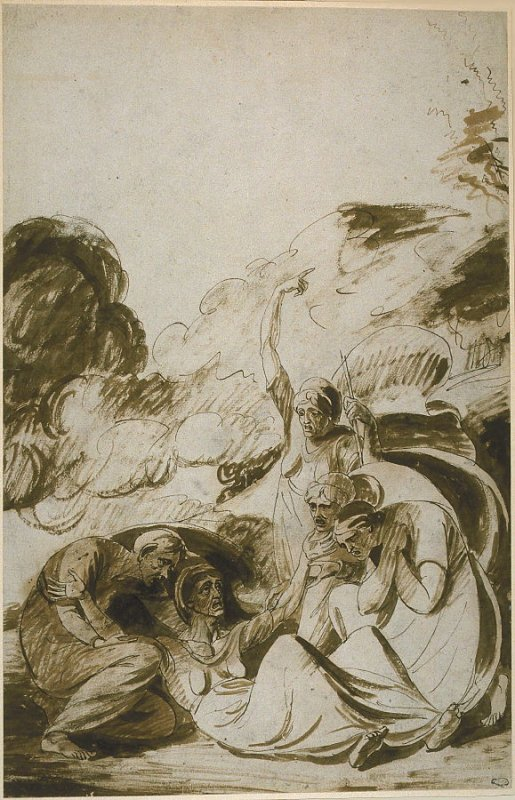 Study of Witches Surrounding a Fallen Comrade
