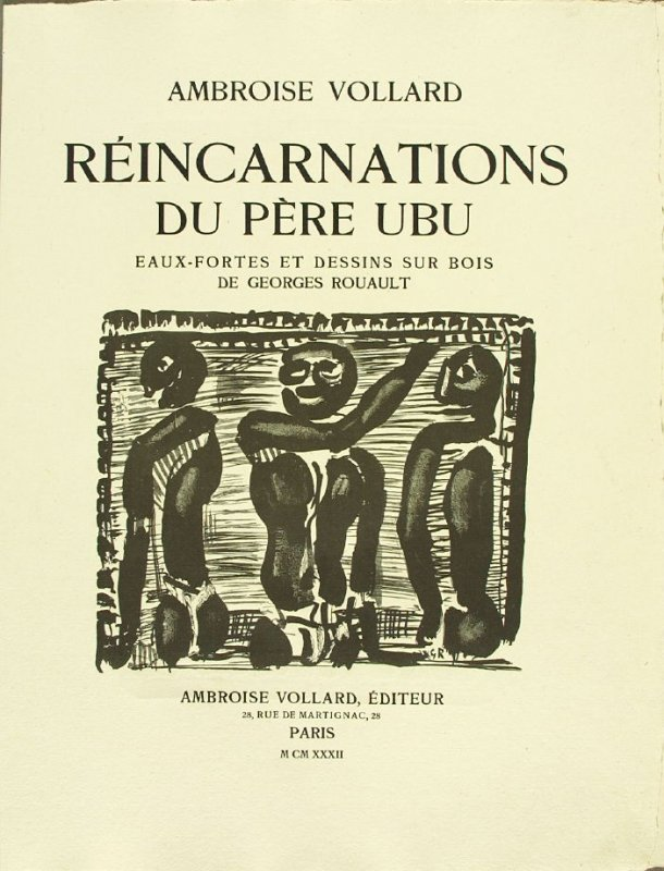 Title page, in the book Réincarnations du Père Ubu (Paris: Ambroise Vollard, 1932)