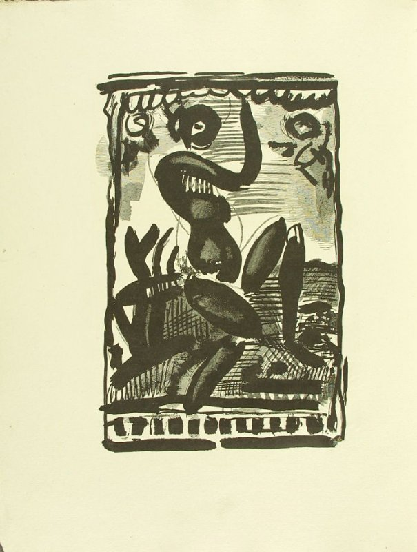 Untitled, verso to pg. I, in the book Réincarnations du Père Ubu (Paris: Ambroise Vollard, 1932)