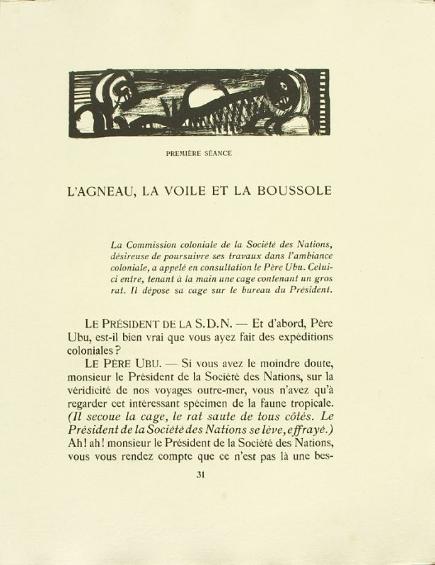 Untitled, pg. 31, in the book Réincarnations du Père Ubu (Paris: Ambroise Vollard, 1932)