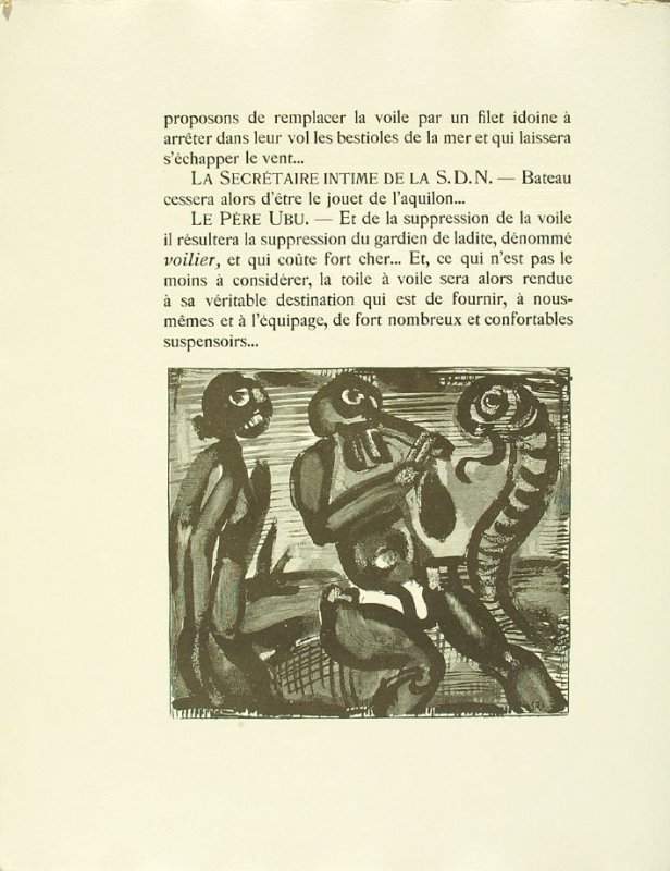 Untitled, pg. 36, in the book Réincarnations du Père Ubu (Paris: Ambroise Vollard, 1932)