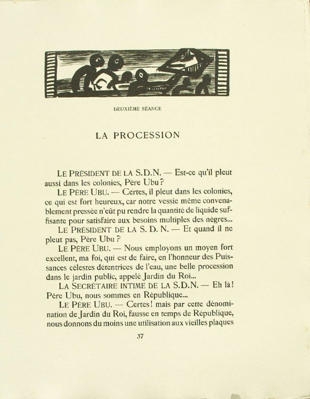 Untitled, pg. 37, in the book Réincarnations du Père Ubu (Paris: Ambroise Vollard, 1932)