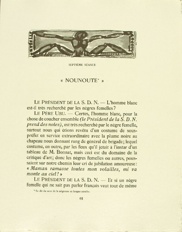 Untitled, pg. 61, in the book Réincarnations du Père Ubu (Paris: Ambroise Vollard, 1932)