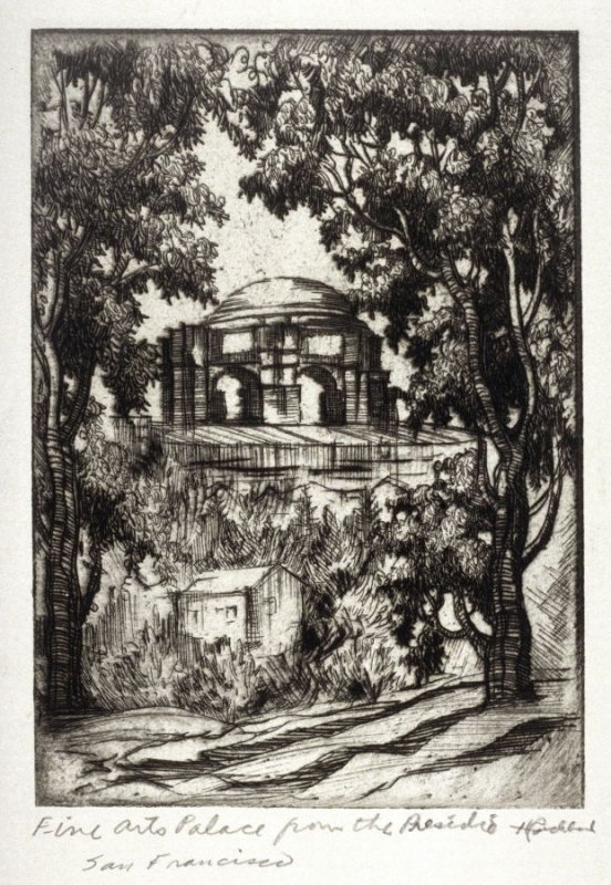 Eleven etchings of local scenes in San Francisco: Palace of Fine Arts