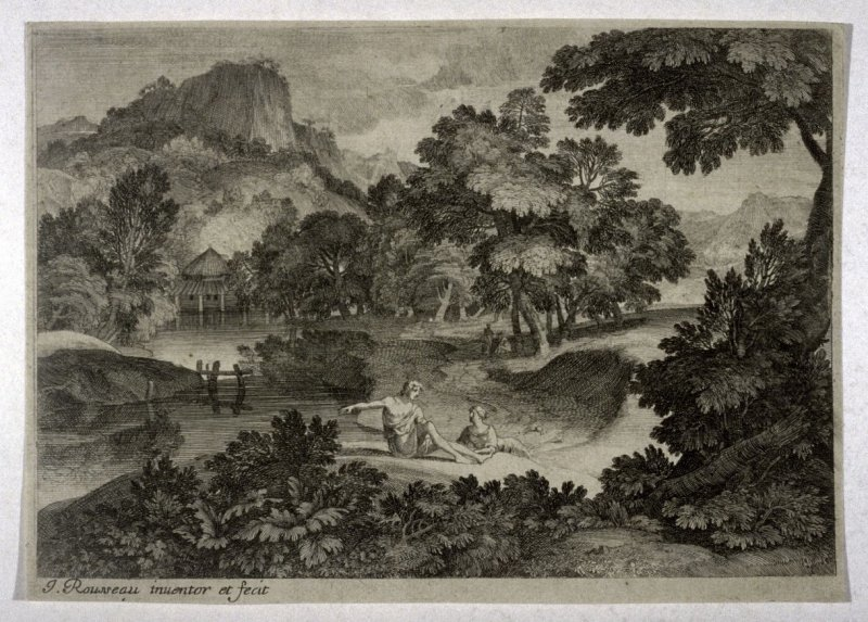 Landscape with two reclining figures
