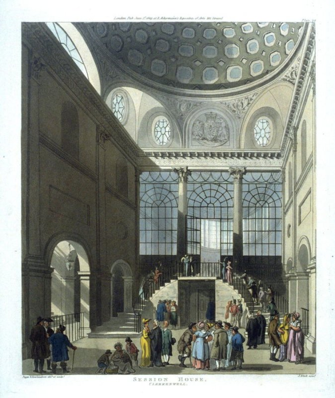 Plate 70: Session House Clerkenwell, illustration to 'The Microcosm of London'