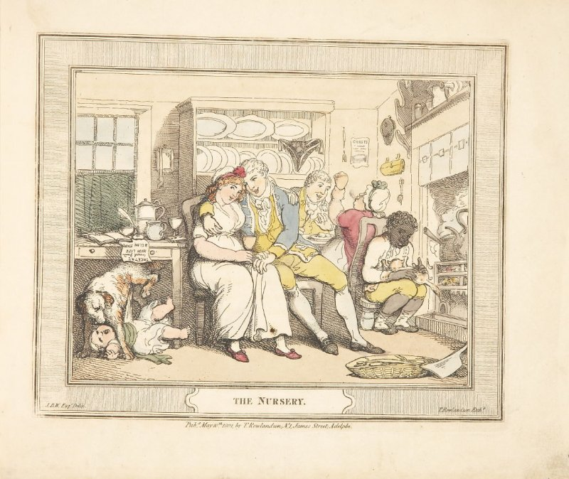 The Nursery, plate 1 in 'A Compendious Treatise of Modern Education' (London: Smeeton, 1802)