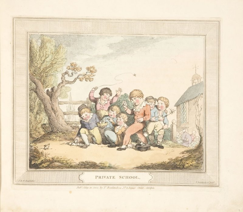 Private School, plate 2 in 'A Compendious Treatise of Modern Education' (London: Smeeton, 1802)