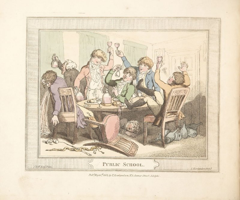 Public School, plate 3 in 'A Compendious Treatise of Modern Education' (London: Smeeton, 1802)