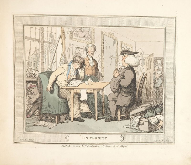 University, plate 4 in A Compendious Treatise of Modern Education (London: Smeeton, 1802)