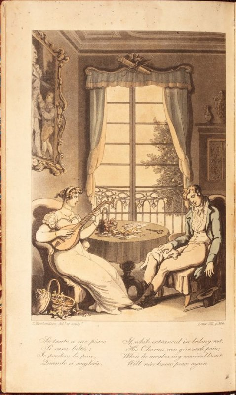 Frontispiece in the book 'Naples and the Campagna Felice: in a Series of Letters Addressed to a Friend in England in 1802' (London: R. Ackermann, 1815)
