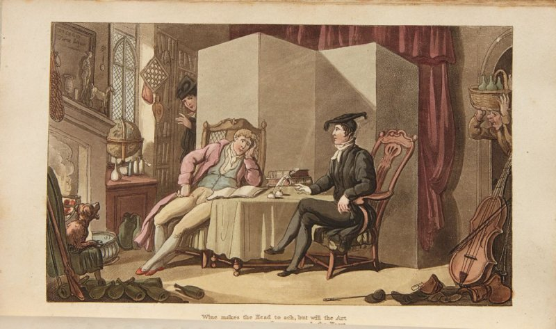 """Youth, plate 4  in the book 'The Dance of Life, A Poem by the Author of """" Dr. Syntax""""' (London: R. Ackermann, 1817)"""
