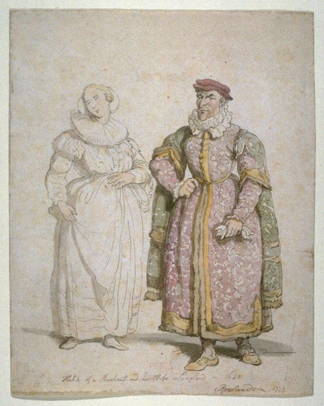 A Merchant and his Wife of England, 1640,1773