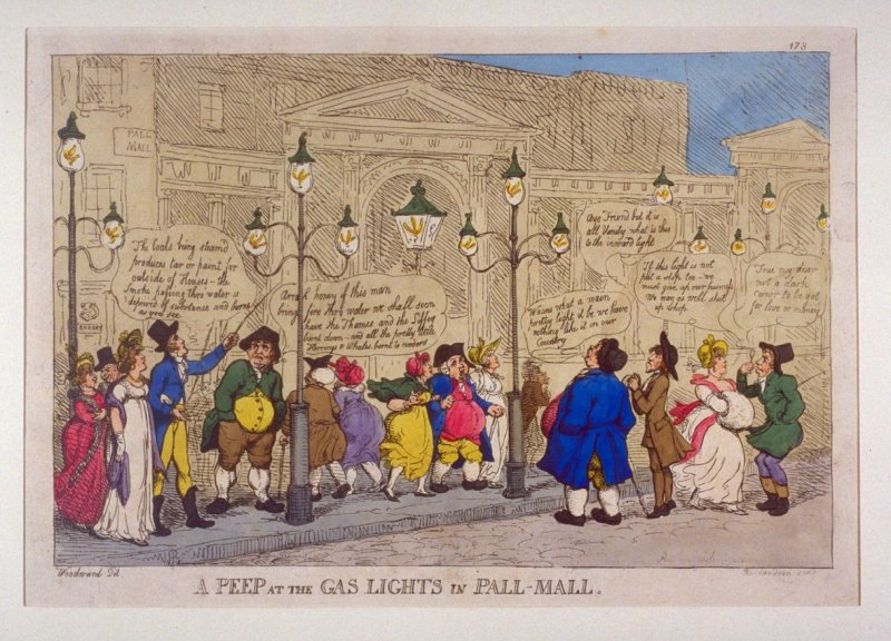 A Peep at the Gas Lights in Pall-Mall