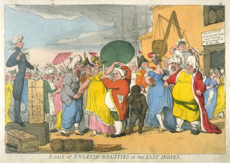 A Sale of English-Beauties in the East Indies