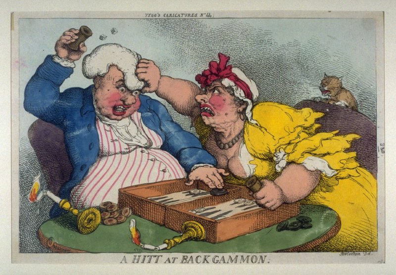 A Hit at Backgammon, from the series 'Tegg's Caricatures' No. 46