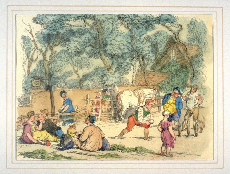 Bowling On The Green, illustration to 'The World in Miniature'