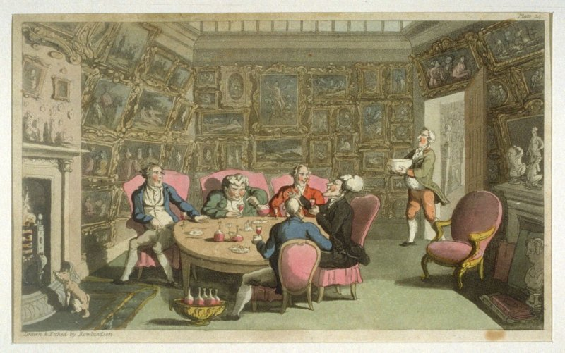 Dr. Syntax With My Lord, from Combe's 'The Tour of Dr Syntax in Search of the Picturesque'
